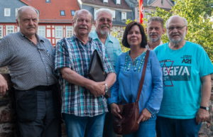 Peter Abel, Norbert Traband, Jürgen Rothländer, Sheina Di Gennaro-Bretzler (der Nachwuchs), Oliver Wolf, Willy Dietz (v.l.n.r)