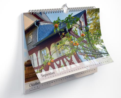 Kalender für 2020 – Innenseiten September und Oktober